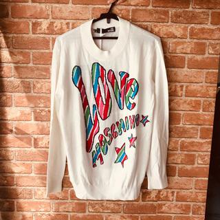 モスキーノ(MOSCHINO)のLove mosqino ラブモスキーノ ほぼ新品!綿セーター(パーカー)