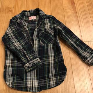 デニムダンガリー(DENIM DUNGAREE)のキッズ120チェックシャツ(ブラウス)