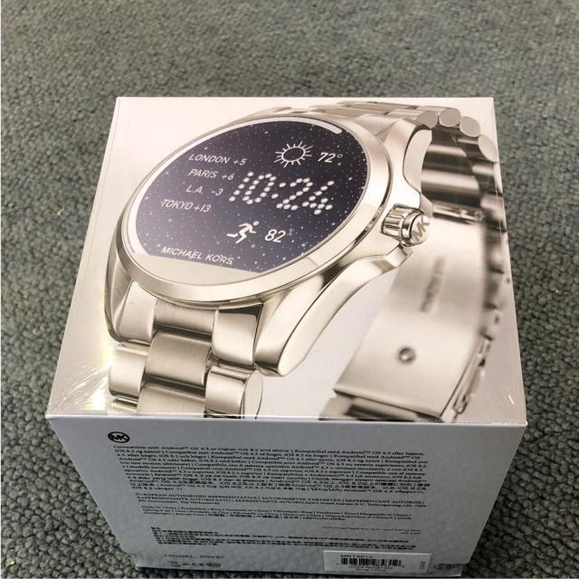 iphone7 ケース シリコン ブランド | Michael Kors - マイケルコース  新品 スマートウォッチ 腕時計 シルバー C0384の通販 by ニモ's shop|マイケルコースならラクマ