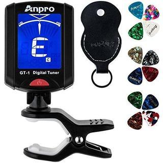色ブラック Anpro GT-1 デジタルチューナー ギター/ベース/ウクレレ/(その他)