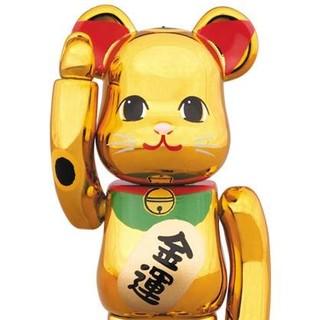 【送料込】金メッキ 6 六 100% ベアブリック ソラマチ 招き猫 新品