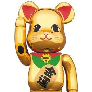 【送料込】金メッキ 6 六 400% ベアブリック ソラマチ 招き猫 新品