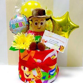●おむつケーキ トイストーリー ウッディ 出産祝いに大人気!(その他)