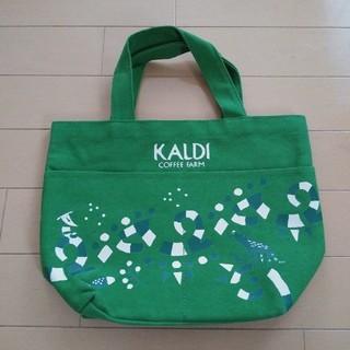 カルディ(KALDI)のKALDI トートバック 2019 緑 カルディ ランチトートバック(弁当用品)