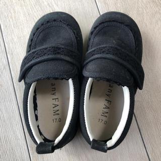 エニィファム(anyFAM)の子供 女の子 黒 おしゃれ靴(フォーマルシューズ)