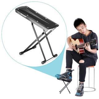 ギター足台 フットレスト スチール製 折り畳み式(クラシックギター)