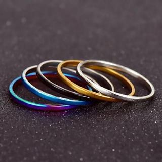 スリムリング5点セット 5color(リング(指輪))