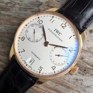 インターナショナルウォッチカンパニー(IWC)のIWC ポルトギーゼ 黒革ベルト IW500113 (腕時計(アナログ))