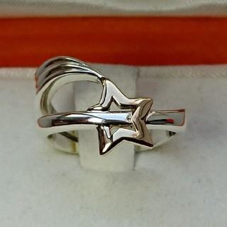スタージュエリー(STAR JEWELRY)のSTAR JEWELRY k14 シルバー コンビ リング 7号(リング(指輪))