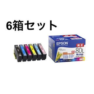 エプソン(EPSON)のEPSON 純正インクカートリッジ  IC6CL80L 6箱(PC周辺機器)