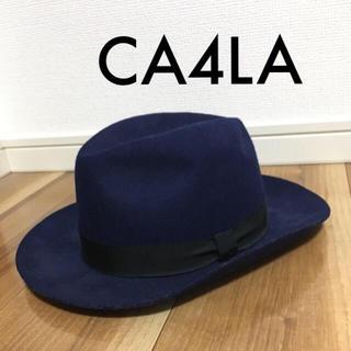 カシラ(CA4LA)のハット ネイビー サイズ調節 メンズ レディース(ハット)