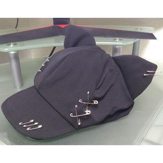 ピン飾り付 猫耳キャスケット 58~61㎝ ブラック 帽子 キャップ(帽子)