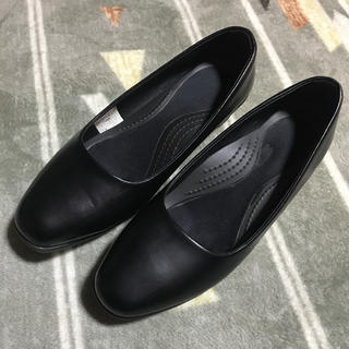 クロックス(crocs)のクロックス パンプス 24.5cm 黒(ハイヒール/パンプス)