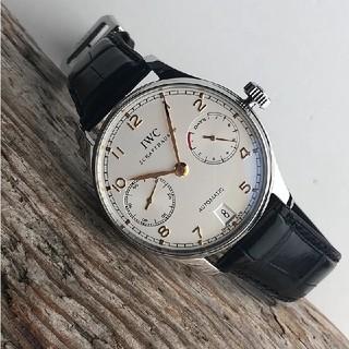 インターナショナルウォッチカンパニー(IWC)のIWC ポルトギーゼ 黒革ベルト IW500114 (腕時計(アナログ))