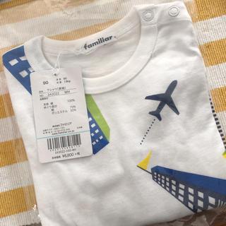 familiar - ファミリア ロングTシャツ