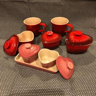 ルクルーゼ(LE CREUSET)のル・クルーゼ マグカップ&ラムカン8点セット(食器)