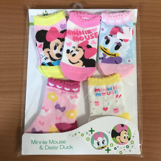 ディズニー(Disney)のディズニー 女の子 靴下 5足セット 9-15cm(靴下/タイツ)