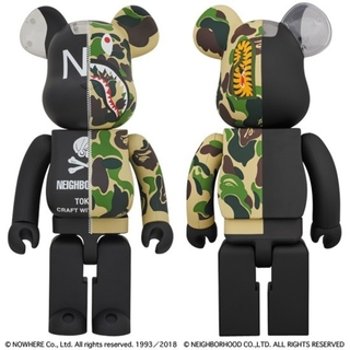A BATHING APE - BAPE × NEIGHBORHOOD BE@RBRICK 1000%