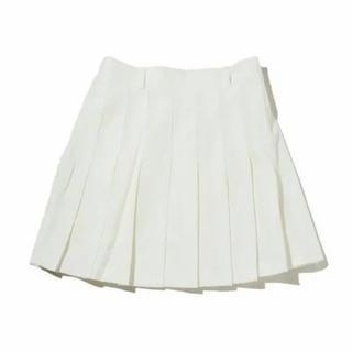 SPINNS - 白 プリーツスカート