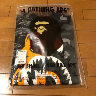 A BATHING APE - BAPE® X UNDFTD TIGER SHARK HALF CREWNECK