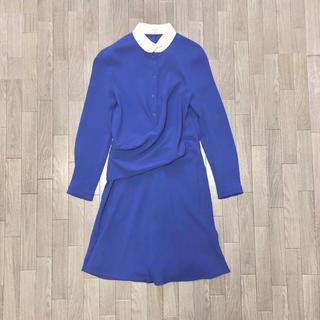 カルヴェン(CARVEN)のcarven crepe shirt dress(ひざ丈ワンピース)