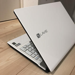 エヌイーシー(NEC)の【NEC】LAVIE PC-NS750BAW [クリスタルホワイト](ノートPC)