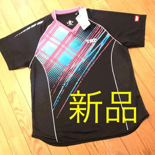 ティーエスピー(TSP)の定価8208円・新品『TSP ゲームシャツ・ユニフォーム』Lサイズ 黒 卓球(卓球)
