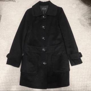 クイーンズコート(QUEENS COURT)の美品 クイーンズコート ブラック Sサイズ ロングコート(ロングコート)