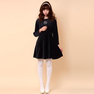 ケイティー(Katie)のKatie dress in velvet(ミニワンピース)
