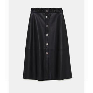ザラ(ZARA)の新品タグ付 ZARA レザースカート(ロングスカート)
