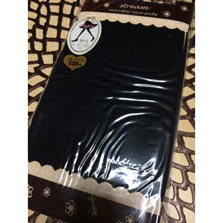 クツシタヤ(靴下屋)のタイツ ブラック 黒 110デニール 未使用新品美品 M〜L(タイツ/ストッキング)