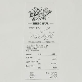 スーパージュニア(SUPER JUNIOR)のSUPERJUNIOR 2013 ペンミ サイン レシート ヒチョル(アイドルグッズ)