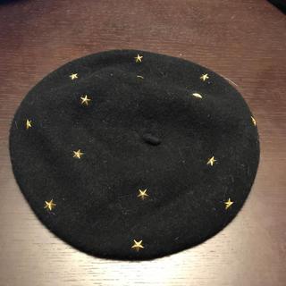 イーハイフンワールドギャラリー(E hyphen world gallery)の星スタッズ付きベレー帽(ハンチング/ベレー帽)