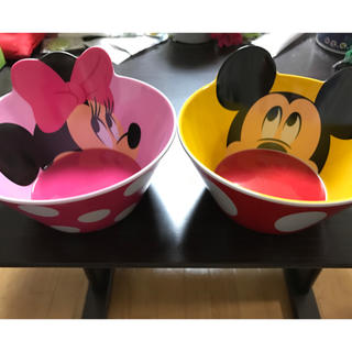 Disney - ミッキー&ミニー ボウルセット