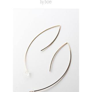 バイボー(by boe)のby boe ラージオープンアンギュラーピアス E14(ピアス)