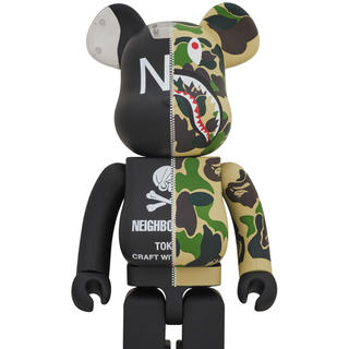 A BATHING APE - ベアブリック A BATHING APE NEIGHBORHOOD 1000%
