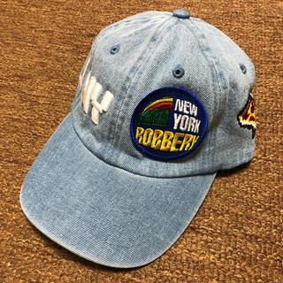 ニューエラー(NEW ERA)の新品 bwood デニム CAP 帽子 キャップ NY ピザ 入手困難 (キャップ)