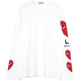 コムデギャルソン(COMME des GARCONS)の最新作 新品 プレイコムデギャルソン L/S B サイズS (Tシャツ/カットソー(七分/長袖))