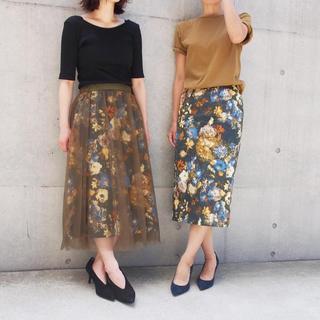 ストロベリーフィールズ(STRAWBERRY-FIELDS)のICHIE(イチエ)のフェミニンモードな花柄スカート(ロングスカート)