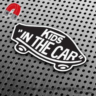 【マグネット】KIDS IN CAR:某ドデザインTYPE1:BK/WH