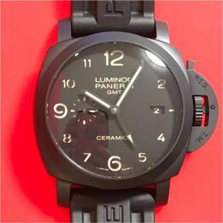 オフィチーネパネライ(OFFICINE PANERAI)のブラックパネライ★ルミノールGMT チェラミカ 3DAYS(腕時計(アナログ))