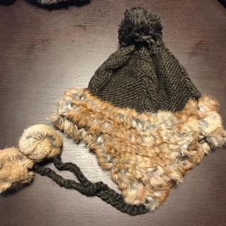 イーハイフンワールドギャラリー(E hyphen world gallery)のラビットファー帽(ニット帽/ビーニー)