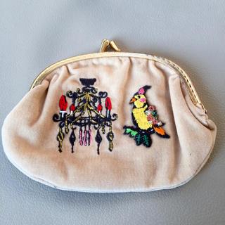 タマオ(tamao)の【新品】tamao タマオ オカメインコ シャンデリア 刺繍 がま口財布(コインケース)