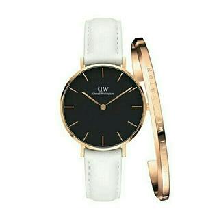 Daniel Wellington - 【ホワイト28mm】女性に大人気!ダニエルウェリントン腕時計&バングル セット
