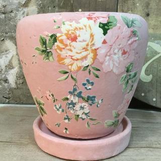 【ガーデン雑貨】ブライトローズプランター(ピンク)(プランター)