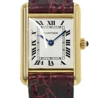 カルティエ(Cartier)のカルティエ Cartier マストタンク K18YG レディース 腕時計(腕時計(アナログ))
