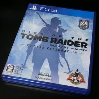 プレイステーション4(PlayStation4)の5%OFF PS4 美品 ライズオブザトゥームレイダー(家庭用ゲームソフト)