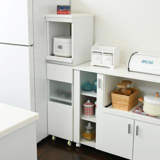 開店記念セール◆スリムキッチンラック30cm(ホワイト)