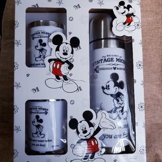 ディズニー(Disney)のミッキーステンレスボトル&2Pマグセット(水筒)