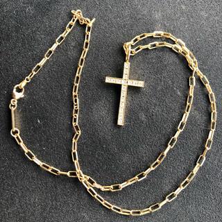 スタージュエリー(STAR JEWELRY)の定価約25万 sjx k18  ダイヤクロスネックレス チェーンセット(ネックレス)